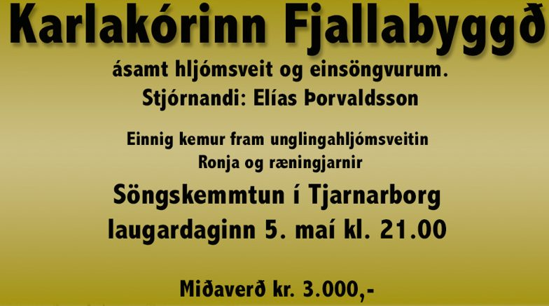Söngur, gleði og gaman í Tjarnarborg í kvöld