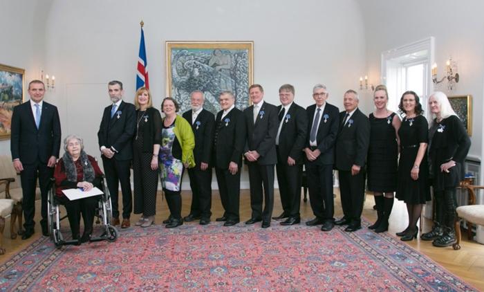 Nanna Rögnvaldar sæmd riddarakrossi