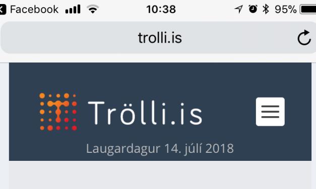 Trölli.is og iPhone / iPad