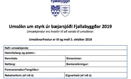 Umsóknir um styrki fyrir árið 2019 í Fjallabyggð