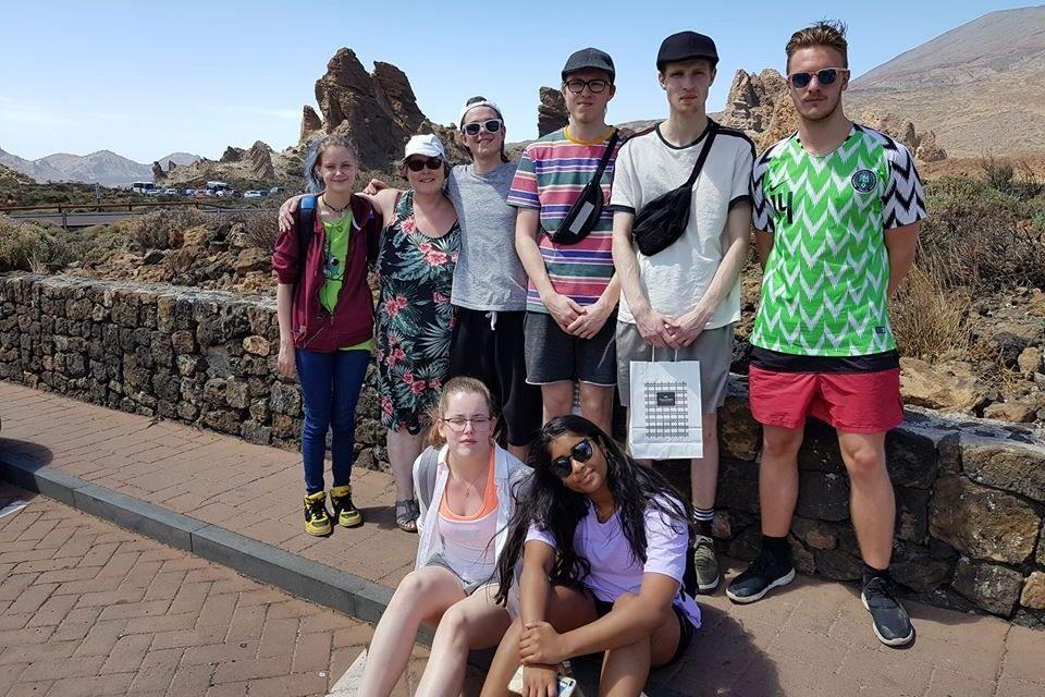 Nemendur í MTR á Tenerife
