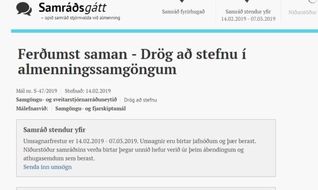Ferðumst saman – Drög að stefnu í almenningssamgöngum