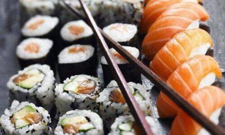 Sushi veisla í Höllinni Ólafsfirði í dag