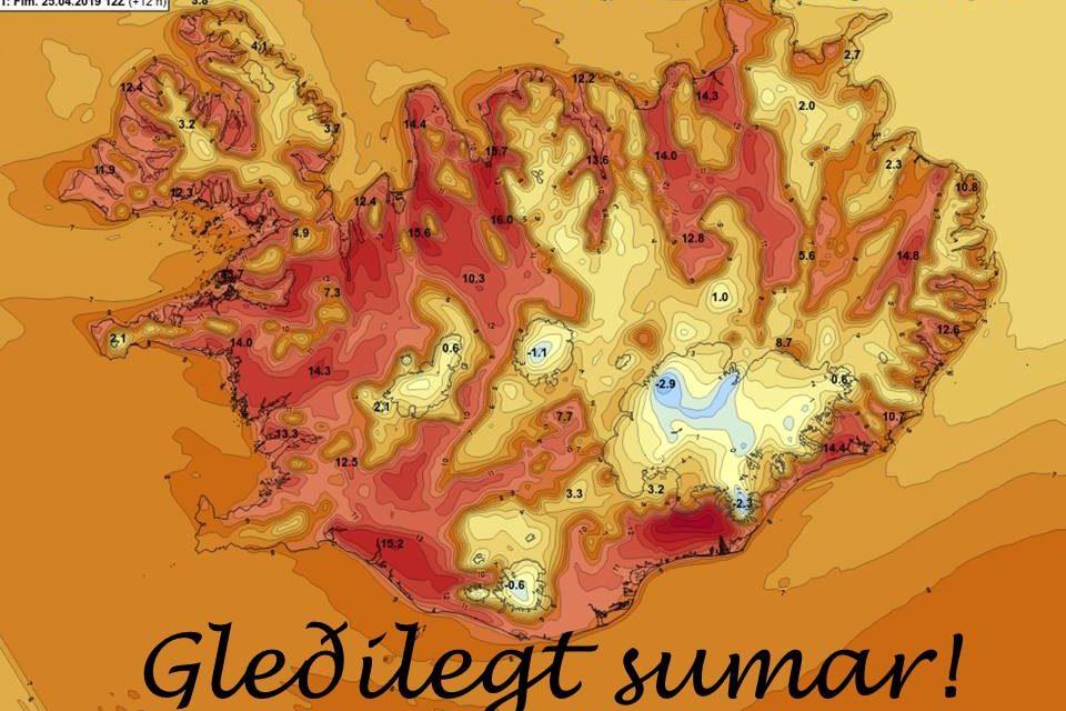 Hlý austangola leikur við landsmenn í dag