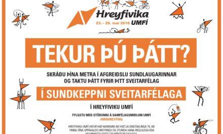Hreyfivika í Húnaþingi vestra hefst í dag