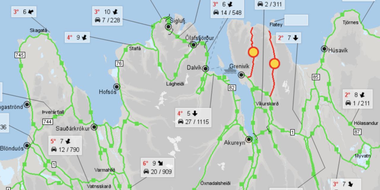 Búið að opna Lágheiðina