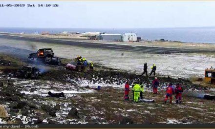 Flugslysaæfing í Grímsey