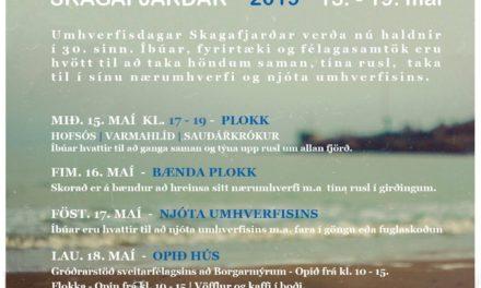 Umhverfisdagar 2019 hefjast í Skagafirði í dag
