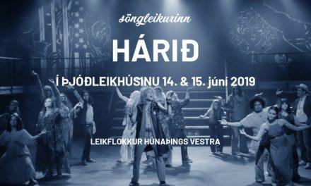 Leikflokkur Hún-vest sýnir Hárið í Þjóðleikhúsinu