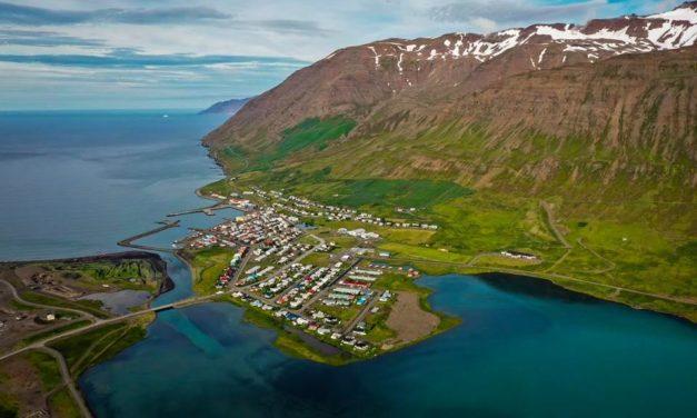 Ólafsfjörður ofan frá