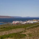 Heitt vatn tekið af Hlíðarvegi á Hvammstanga í dag
