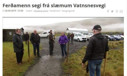 Biðlað til ferðamanna að segja frá slæmum Vatnsnesvegi