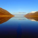 Héðinsfjörður í haustblíðunni