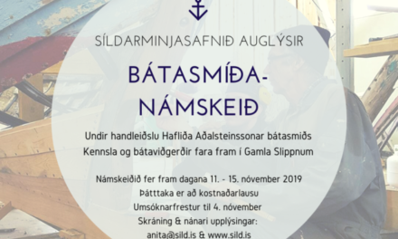 Bátasmíðanámskeið 2019