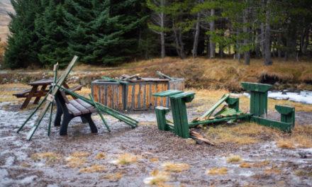 Skemmdarverk í Skógræktinni á Siglufirði