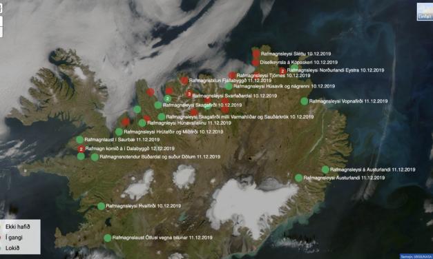 Dalvík, Ólafsfjörður og Siglufjörður enn án rafmagns