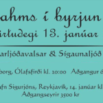 Brahms á Birtudegi 13. janúar