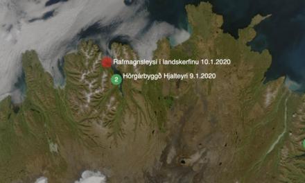 Rafmagnslaust á Tröllaskaga