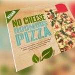 Mjólk í vegan No Cheese pizzum