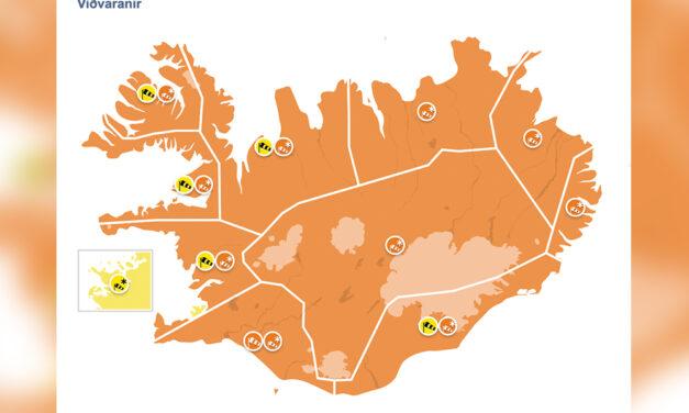 Ófærð og appelsínugul viðvörun