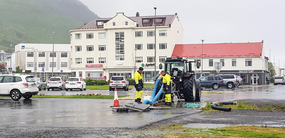 Úrhelli í Fjallabyggð