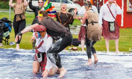 Löðrandi fjör á Sápuboltamótinu í Ólafsfirði