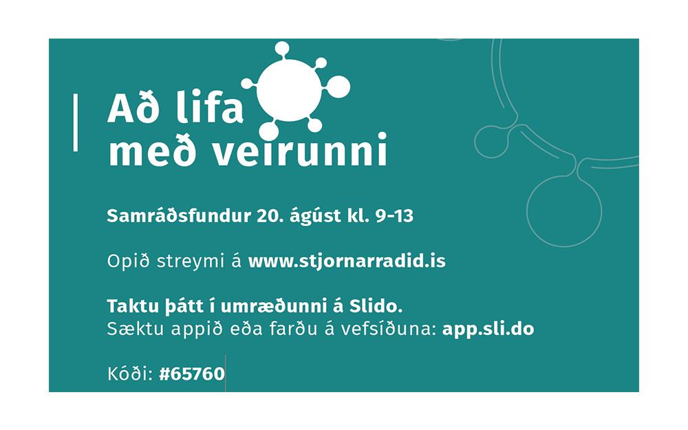 Að lifa með veirunni – dagskrá samráðsfundar í dag, fimmtudag