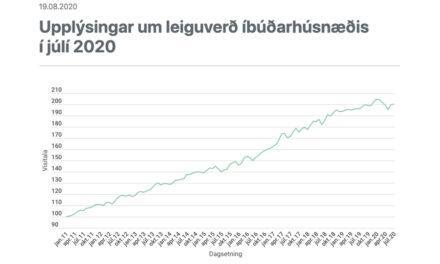Leiguverð íbúðarhúsnæðis í júlí 2020