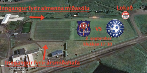 KF – Dalvík/Reynir í dag kl. 17:30 – 100 manna takmörkun