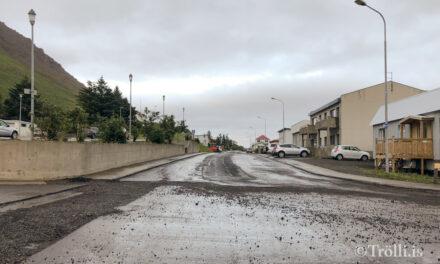 Lokanir gatna í dag á Siglufirði – Vegna malbikunar