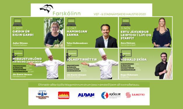 Námskeið á vegum Farskólans haldin á Hvammstanga haust 2020