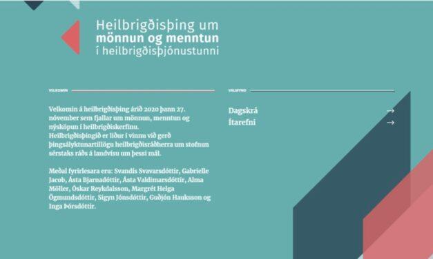 Beint frá heilbrigðisþingi á www.heilbrigdisthing.is í dag kl. 8.30