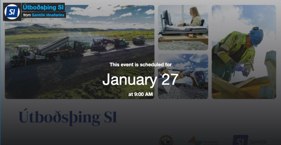Útboðsþing Samtaka iðnaðarins í beinu streymi kl. 09 í dag