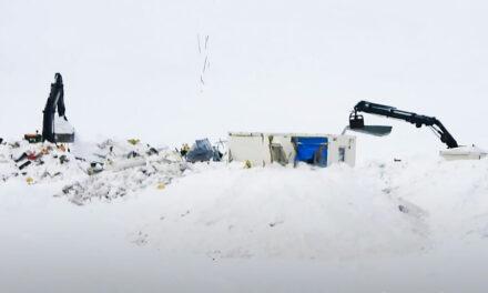 Myndband af hreinsunarstarfinu í Skarðsdal