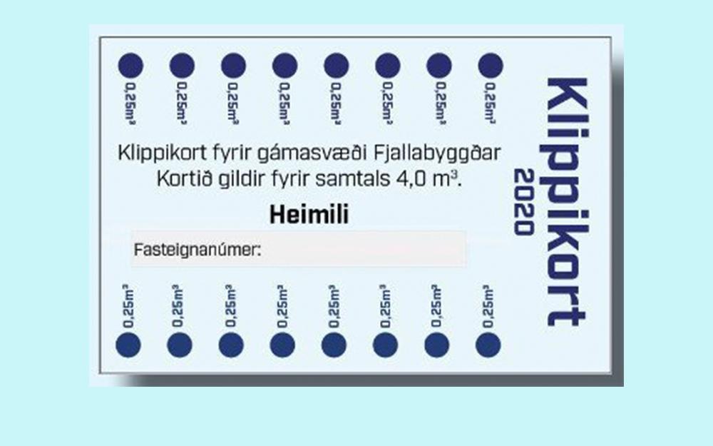 Klippikort á gámasvæðum Fjallabyggðar 2021