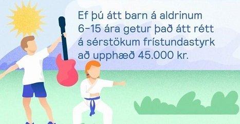 Sérstakur styrkur til íþrótta- og tómstundastarfs barna