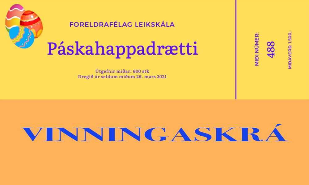 Dregið verður í páskahappdrætti Leikskála í dag