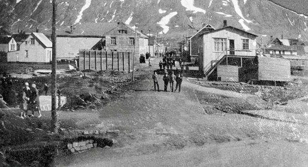 Haugasund á Siglufirði var eitt af húsunum í hjarta bæjarins