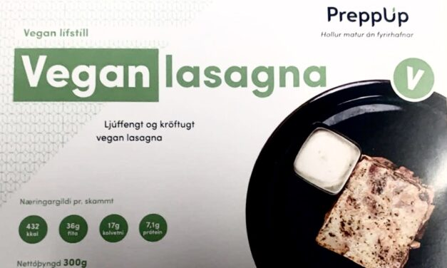 Hveiti ekki tilgreint í Vegan lasagna