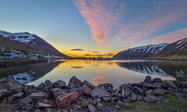 Kvöldsólar myndir frá Siglufirði