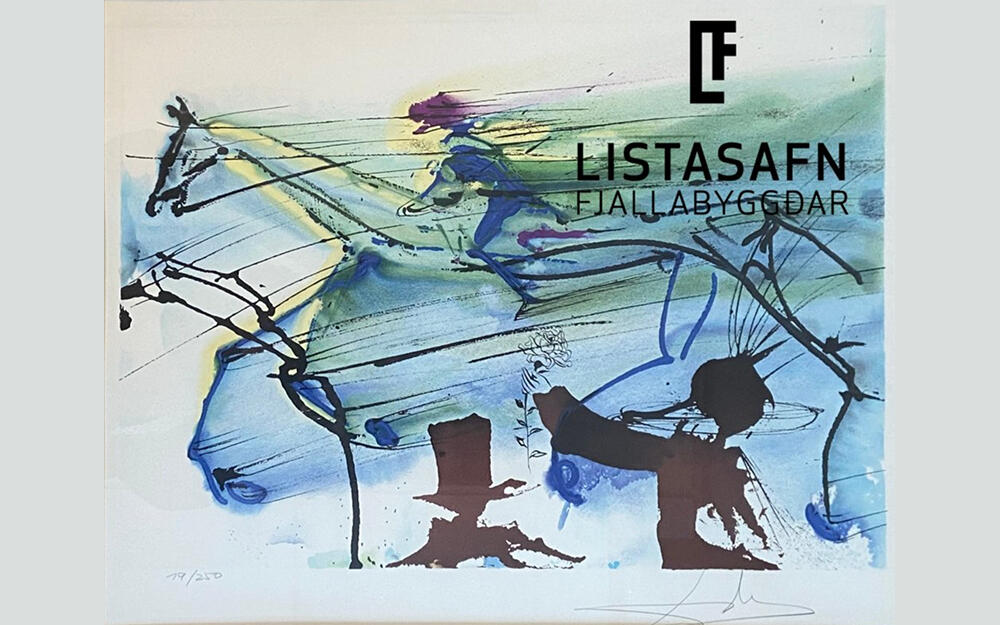 Mynd eftir Salvador Dali í Listasafni Fjallabyggðar
