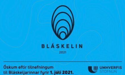 Óskað eftir tilnefningum fyrir Bláskelina