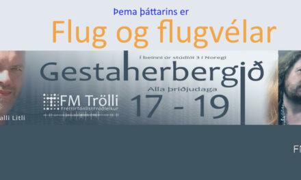 Gestaherbergið í dag klukkan 17-19 og þema þáttarins er flug og flugvélar