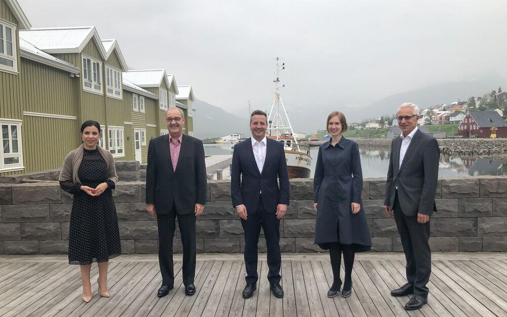 EFTA-ráðherrarnir funduðu á Siglufirði
