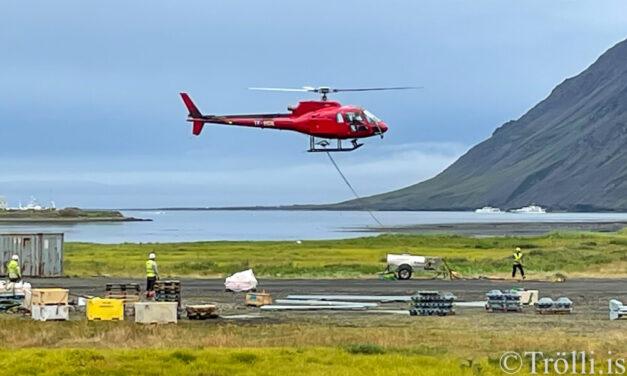 Þyrlugnýr í Siglufirði