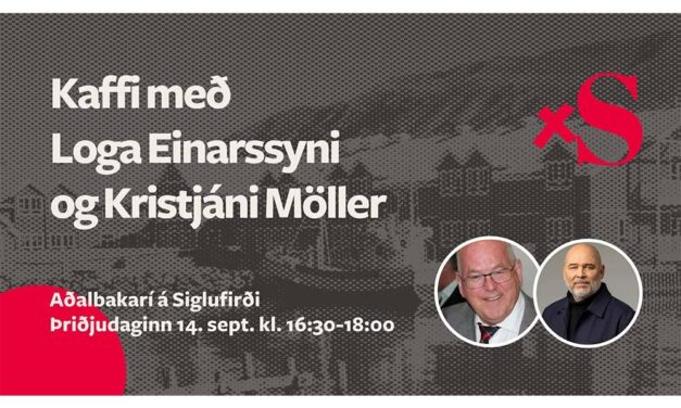 Kaffi með Loga og Kristjáni Möller í Aðalbakaríi í dag