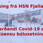 Auglýsing frá HSN í Fjallabyggð okt. 2021