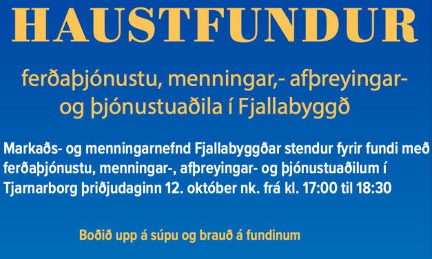 Haustfundur ferðaþjónustu, menningar,- afþreyingar- og þjónustuaðila í Fjallabyggð