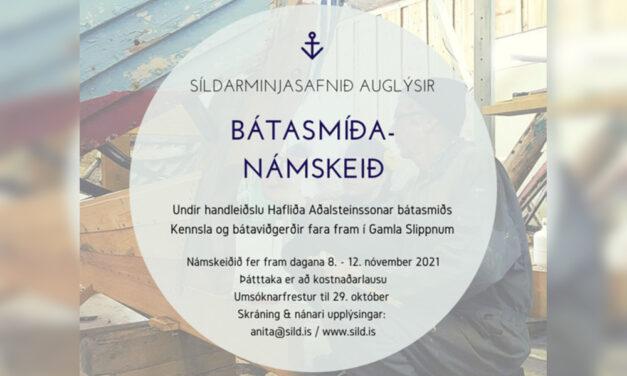 Bátasmíðanámskeið 2021